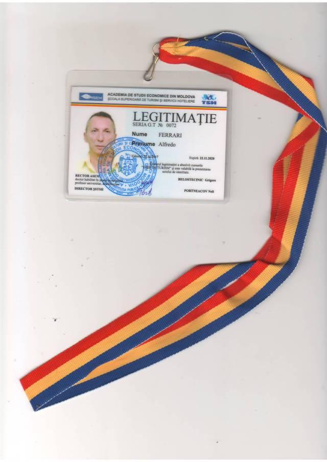 Patentino Autorizzazione Guida Turismo moldova moldavia